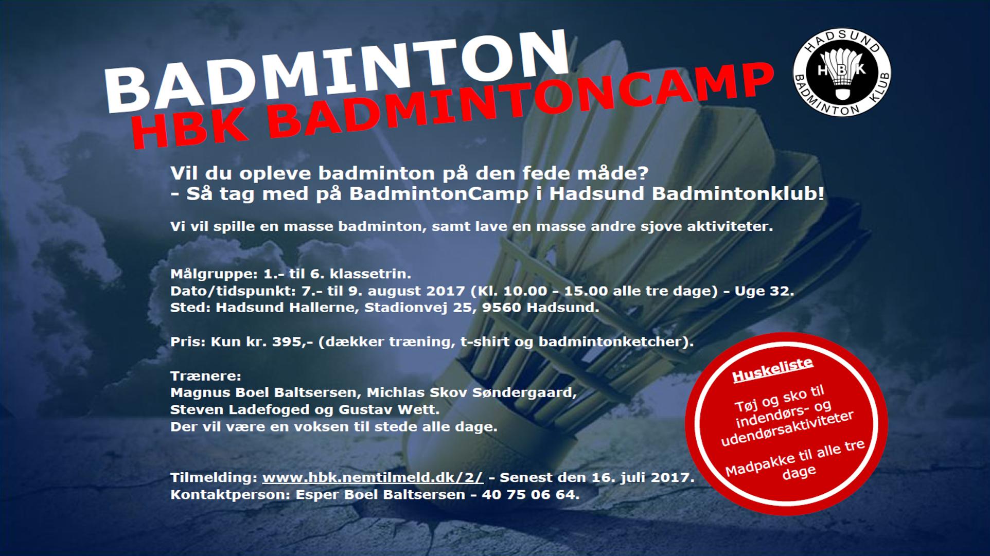 HBK BadmintonCamp 2017